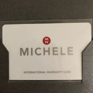 Michele Accessories - Michele Silver & Gold Watch